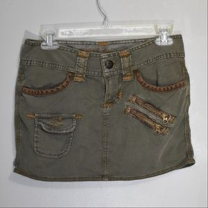 GUESS Jeans Military Inspired Mini Skirt 25 NWOT